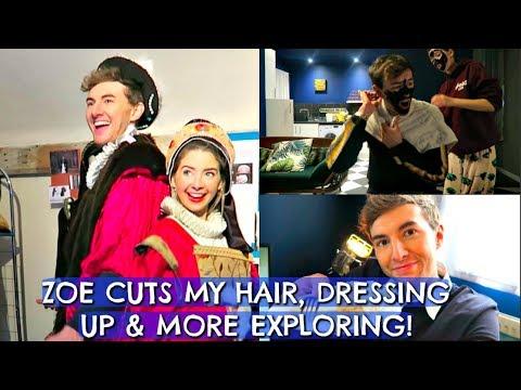 ZOE CUTS MY HAIR, DRESSING UP & MORE EXPLORING!