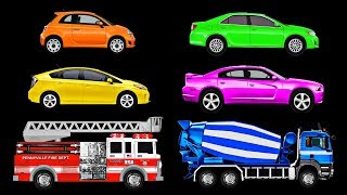 Cars \u0026 Trucks for Kids | Learn Car \u0026 Truck Names \u0026 Sounds | Fun \u0026 Educational Organic Learning