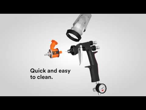 The 3M™ Accuspray™ Gun and 3M™ PPS™ Paint Preparation System.