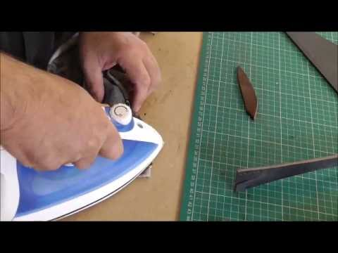 Removing score mark from leather