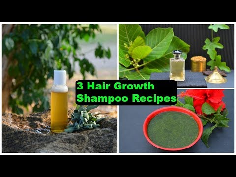 3 Natural Homemade Herbal Shampoo Recipes That Will Make Your Hair Grow Like Crazy & Stop Hair Fall
