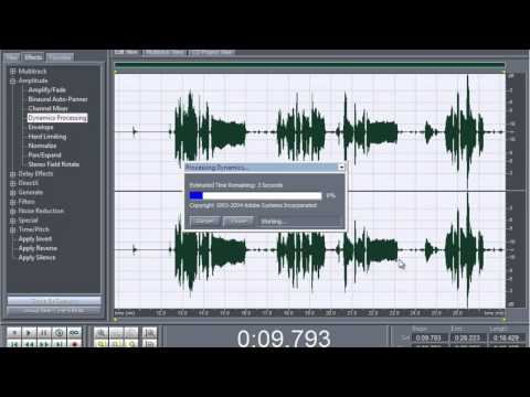 How To Get Studio Quality on Adobe Audition 1.5 for Dynamic Mic