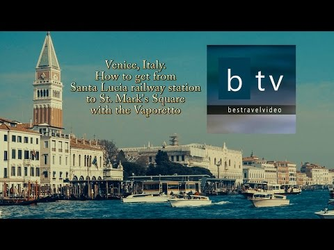 Venice, Italy how to get to Saint Mark's square by boat from train station (enable subtitles)
