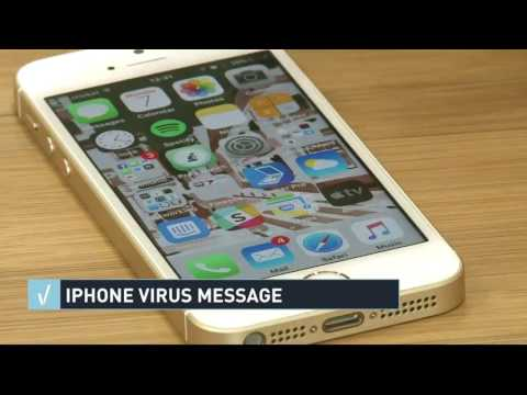 Verify: iPhone virus warning messages