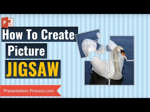How to create Jigsaw Puzzle from Picture in PowerPoint 2013