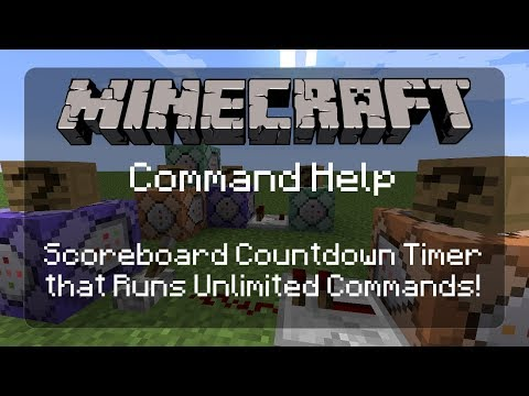 Command Help: Countdown Timer with Custom Commands and Custom Timer Duration! For Minigames! | 1.12
