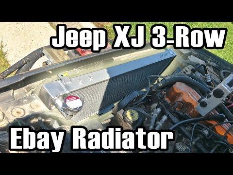 89 Cherokee Ebay 3 Row All Aluminum Radiator Install