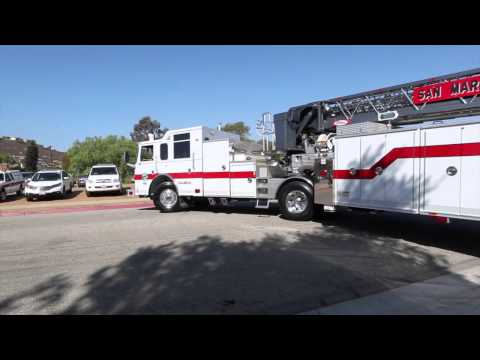 Hook and Ladder Fire Truck Turning Radius