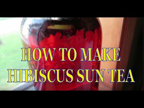How To Make Hibiscus Sun Tea   Easy!