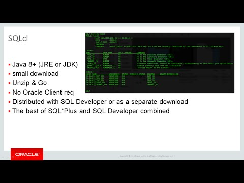 Oracle SQLcl Introduction and Getting Started