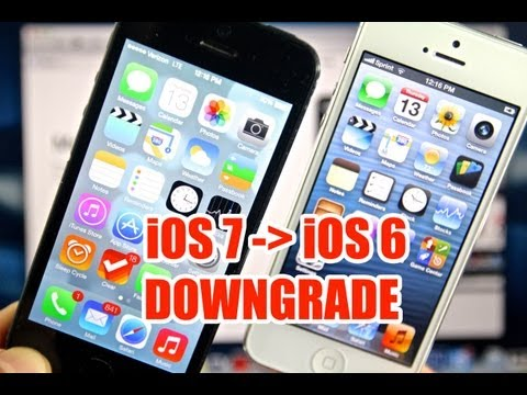 How To Downgrade iOS 7 To 6.1.3 & 6.1.4 - iPhone, iPod Touch & iPad Easy Method