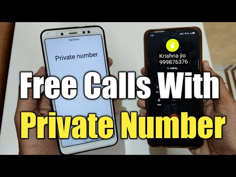 Call karo private number se , make call with private number
