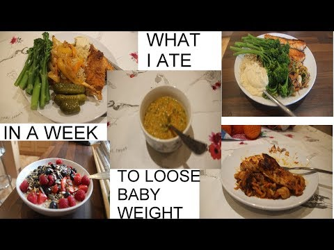 WHAT I ATE IN A WEEK TO LOSE BABY WEIGHT | MARWA CHEBBI