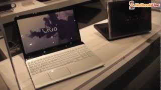 Sony Vaio 15 inch ultrabook prototype preview at CES 2012