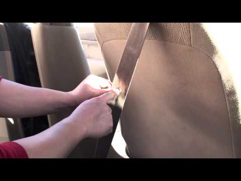 Replace a Seatbelt Buckle Stop Button - Prevent Falling Seat Belt Buckles