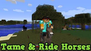 Minecraft Xbox 360 Ps3 How To Tame Ride Horses Donkeys