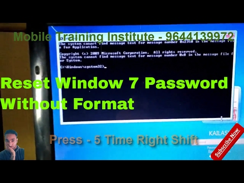 How to reset Window 7/8 Password without Format   Unlock window password with easy step  Hindi urdu