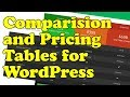 How to add COMPARISON TABLES and PRICING TABLES to WordPress