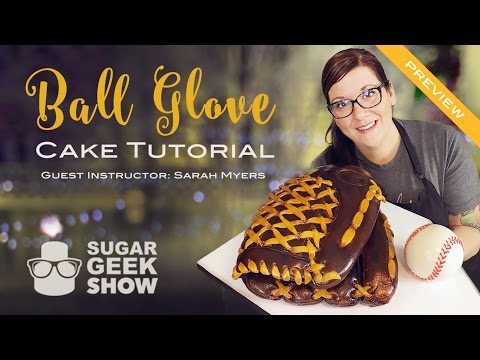 Ball Glove Cake Tutorial Preview - Premium Level