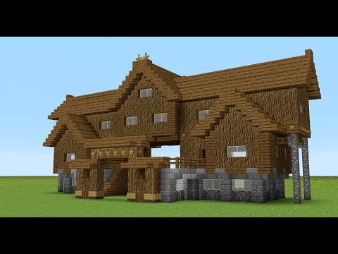 MINECRAFT: How to build a wooden gate house