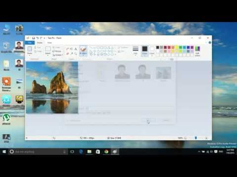 Bangla Tutorial: How to resize picture without Photoshop using Windows Paint App like 300*300