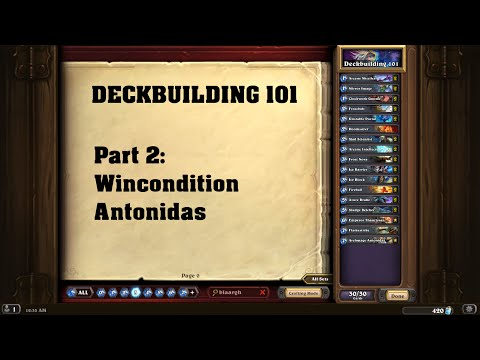 DECKBUILDING 101 Part #02: Wincondition Antonidas [German I Hearthstone]