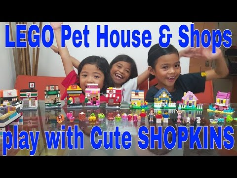 LEGO Pet house & Shops play with Cute Shopkins //16june2016 /thezunafamily singapore vloggers