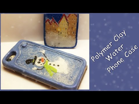 Polymer clay water phone case