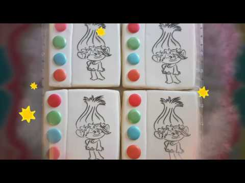 Paint your own trolls sugar cookies