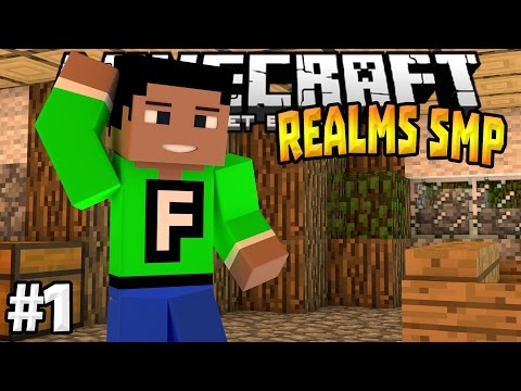MCPE 0.15.0 Realms SMP Ep. 1 - Finding A Place To Live! - Minecraft PE (Pocket Edition)