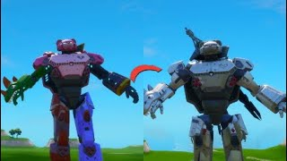 How to make silver mecha team leader in fortnite creative (step by step )
