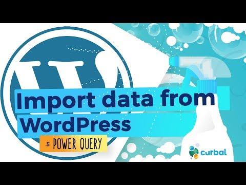 Import Wordpress data into Power BI