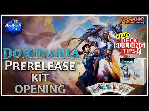 Dominaria Prerelease Kit Opening and Deck Building Tips!!