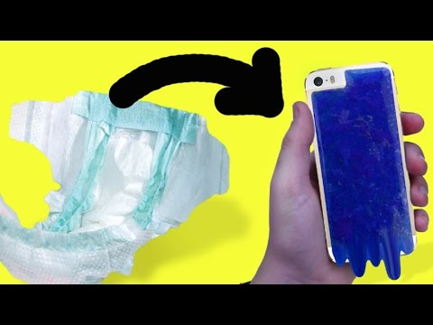 DIY PHONE CASE MADE WITH DIAPERS?!
