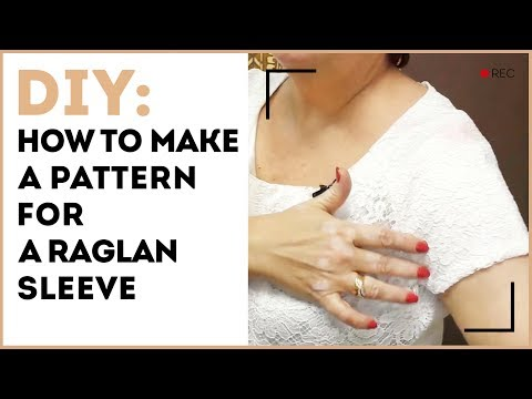 DIY: How to make a pattern for a raglan sleeve. Designing a summer top with the raglan sleeves.