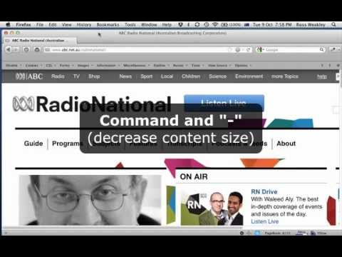 Adjusting text size using Firefox on OSX