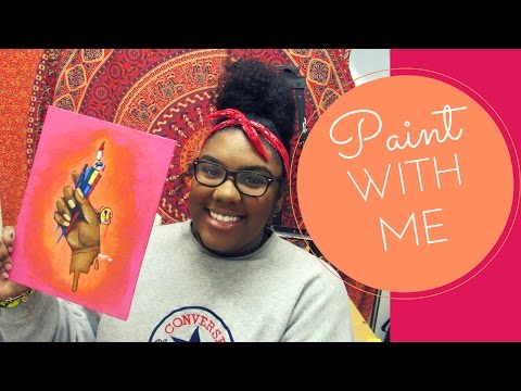 Speedpaint // Dark Skin Tones in Acrylic Paint 🎨