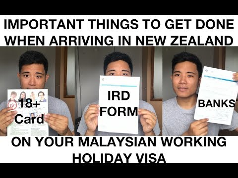 About Banking, IRD, and 18+ Card for Malaysia New Zealand Working Holiday Visa