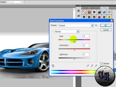 How To Change Car Color In Adobe Photoshop Cs4/Cs3