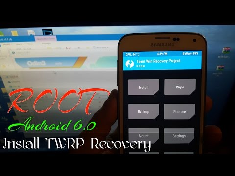 Samsung Galaxy S5 G900F Root Android 6.0 Marshmallow & install Twrp Recovery