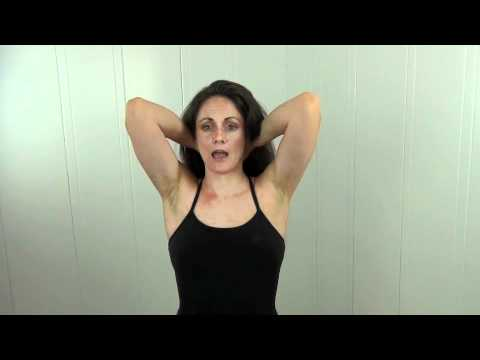 Yoga Therapy: How to relieve tension in your neck with this simple yoga therapy posture.