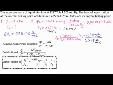 Calculate Boiling Point of Titanium at Different Pressure