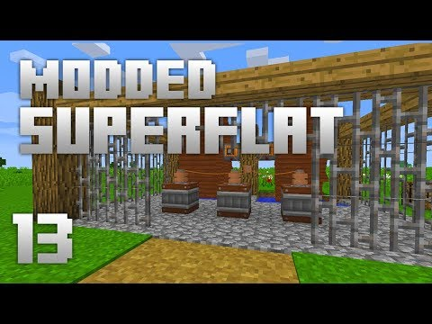 ►Modded Superflat - POWER PLANT!   Ep. 13   Modded Minecraft Survival◄