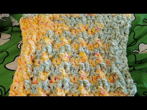 How To Fast And Easy Cabled Crochet Dish Towel - DIY Crafts Tutorial - Guidecentral