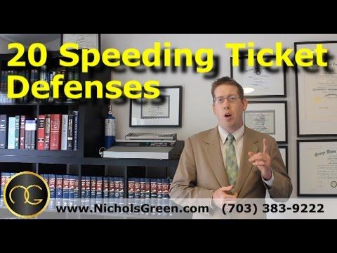 20 Speeding ticket defenses - Traffic attorney explains how to beat a speeding ticket
