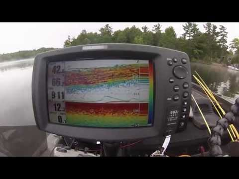 Catching deep smallmouth bass using a fish finder