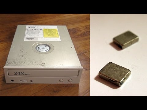 Getting Free Neodymium Magnets from CD / DVD drive