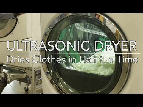 Ultrasonic Clothes Dryer Dries Clothes in Half the Time
