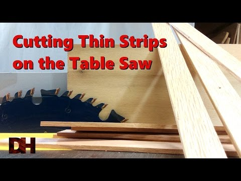 Cutting Thin Strips on the Table Saw
