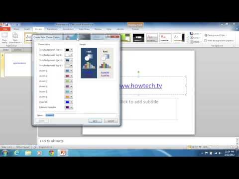 How to Change PowerPoint 2010 Hyperlink Color